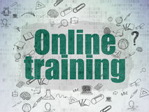 Education concept: Online Training on Digital Royalty Free Stock Image