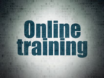 Education concept: Online Training on Digital Paper background Royalty Free Stock Images