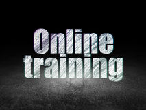 Education concept: Online Training in grunge dark Stock Images