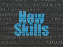 Education concept: New Skills on wall background Royalty Free Stock Photo