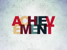 Education concept: Achievement on Digital Data Paper background Royalty Free Stock Images