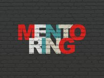 Education concept: Mentoring on wall background Stock Photos