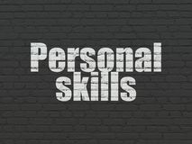 Education concept: Personal Skills on wall background royalty free stock photography