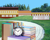 Education concept. Path to college or university Stock Images