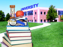 Education concept. Path to college or university Royalty Free Stock Photography