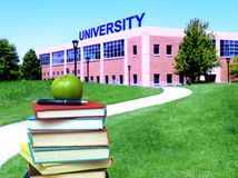 Education concept. Path to college or university Stock Photography