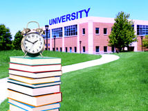 Education concept. Path to college or university Royalty Free Stock Image