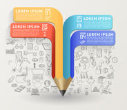Education concept with pencil. Royalty Free Stock Photography