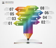Education concept. Pencil for infographics. Vector illustration Stock Image
