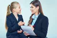 Education concept portrait of teacher wth student. Stock Image