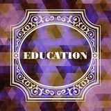 Education Concept. Purple Vintage design. Royalty Free Stock Photography