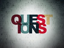 Education concept: Questions? on Digital Paper Stock Photo
