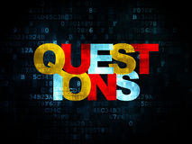 Education concept: Questions? on Digital Royalty Free Stock Images