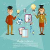 Education concept schoolboy schoolgirl Royalty Free Stock Photo