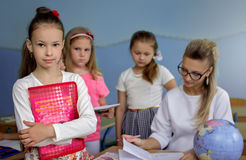 Education concept, schoolchildren Stock Images