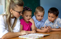 Education concept, schoolchildren Stock Photos