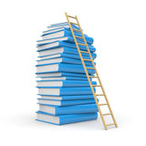 Book stack with stair Royalty Free Stock Photo