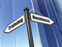 Education concept: sign Business Training on Stock Images