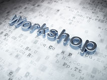 Education concept: Silver Workshop on digital background Stock Images
