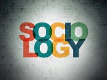 Education concept: Sociology on Digital Data Paper background. Education concept: Painted multicolor text Sociology on Digital Data Paper background Stock Photography