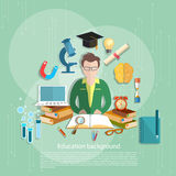 Education concept students e-learning teacher open book Stock Photography