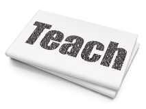 Education concept: Teach on Blank Newspaper background. Education concept: Pixelated black text Teach on Blank Newspaper background, 3D rendering Royalty Free Stock Photography