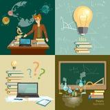 Education concept teacher classroom set Royalty Free Stock Photos