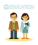 Education concept with teacher profession Royalty Free Stock Photography