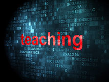Education concept: Teaching on digital background. Education concept: pixelated words Teaching on digital background, 3d render Royalty Free Stock Image