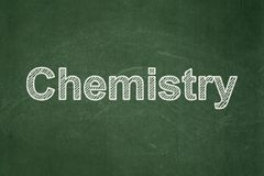 Education concept: Chemistry on chalkboard background royalty free stock images