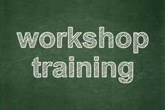 Education concept: Workshop Training on chalkboard background. Education concept: text Workshop Training on Green chalkboard background Royalty Free Stock Images