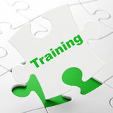 Education concept: Training on puzzle background Royalty Free Stock Photography