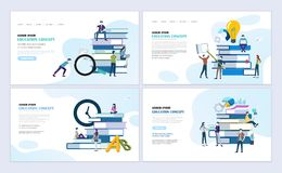 Education concept web page design royalty free illustration