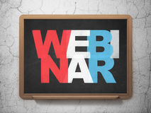 Education concept: Webinar on School Board Royalty Free Stock Photography