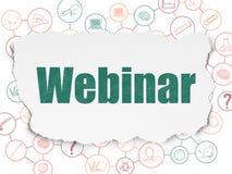 Education concept: Webinar on Torn Paper Stock Photos