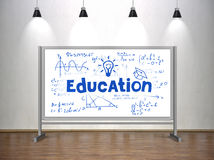 Education concept on whiteboard Stock Photography