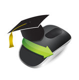 Education concept with Wireless computer mouse Stock Image