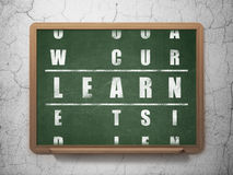 Education concept: word Learn in solving Crossword Royalty Free Stock Photography