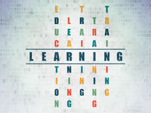 Education concept: word Learning in solving Royalty Free Stock Image