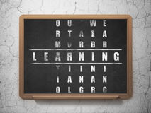 Education concept: word Learning in solving Royalty Free Stock Photos