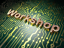 Education concept: Workshop on circuit board background Stock Image