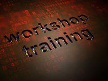 Education concept: Workshop Training on digital Stock Photography
