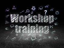 Education concept: Workshop Training in grunge Royalty Free Stock Photography