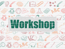 Education concept: Workshop on wall background Stock Photo