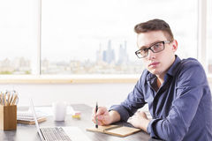 Education concept with young man Stock Images