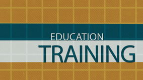 Education concepts. Education, learning an training concepts stock illustration