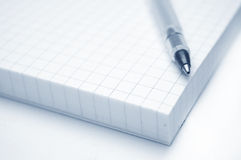 Education conceptual image. Close up of a notebook and pen Royalty Free Stock Photos