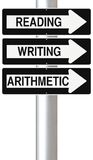 Education. Conceptual one way street signs on education Stock Photography