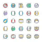 Education Cool Vector Icons 2 Royalty Free Stock Photos