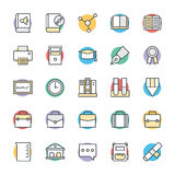 Education Cool Vector Icons 3 Royalty Free Stock Images